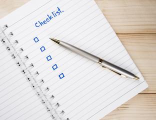 Checklist on notebook 17