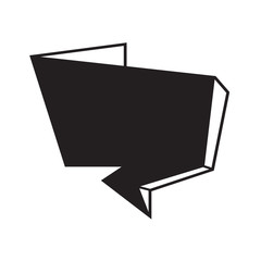 Speech bubble icon Illustration symbol design