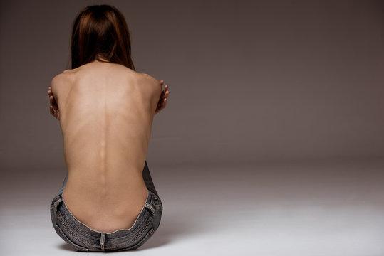 Thin girl back