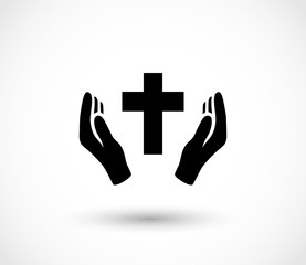 Pray icon vector