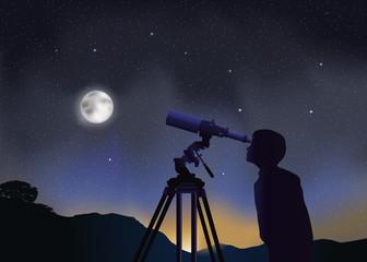 Paysage Astronomie Enfant