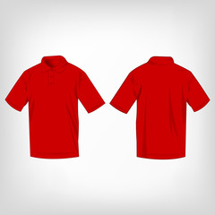 Red polo shirt isolated vector
