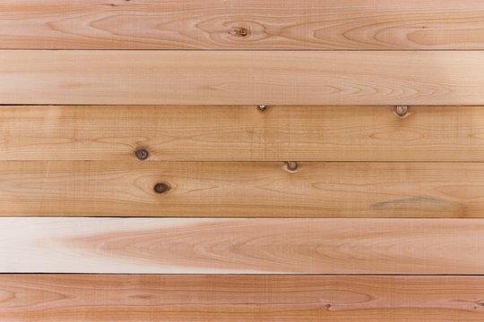 Empty Cedar Wood Wall with Horizontal Orientation