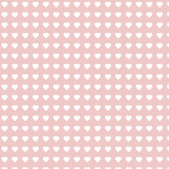 Illustration Pink Seamless Pattern with Hearts for Valentines Day. Holiday Background - Vector