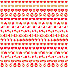 Seamless pattern with hearts. Vector illustration