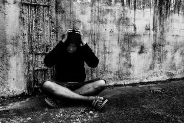 Conceptual of drug addiction