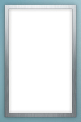 Aluminium poster frame on blue background