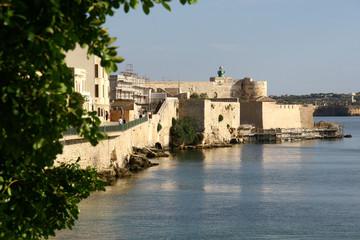 Castello Maniace in Syrakus, Isola di Ortigia, Sizilien, Italien