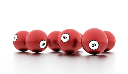 Eight Ball on a plain white background