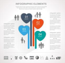 Modern heart infographics