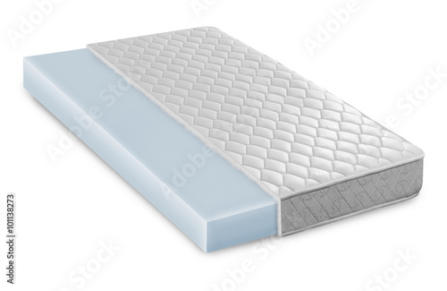 Memory foam latex mattress cross section photo illustration photo libre de droits sur la - Moisissure sur matelas nettoyage ...