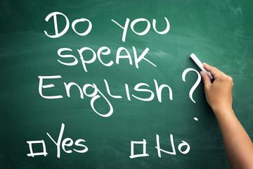 Wall Mural - Learning major global language - English.