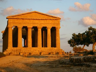 Concordia-Tempel im Tal der Tempel in Agrigent, Italien