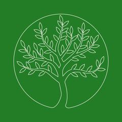 logo line tree