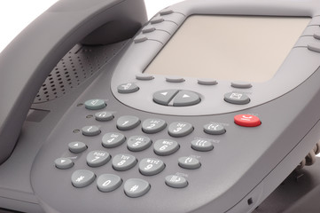 Modern office system phone with large LCD screen