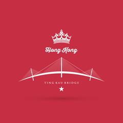 Hong Kong bridge symbol