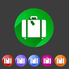 luggage suitcase bag icon flat web sign symbol logo label