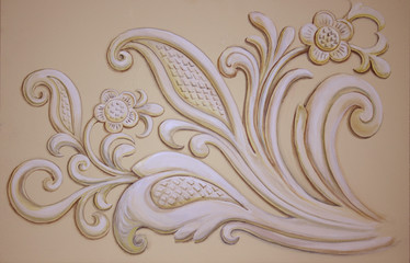 Tracery, decorative ornament. Acrylic