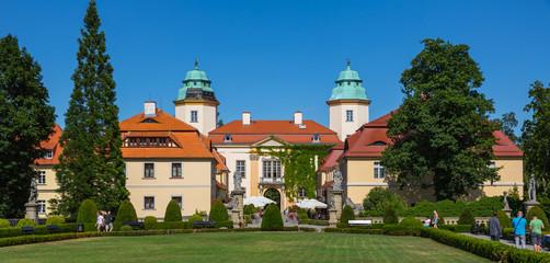 Ksiaz Castle in the yard, Książ, Poland