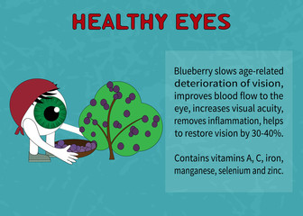 Benefits of blueberries for healthy eyes