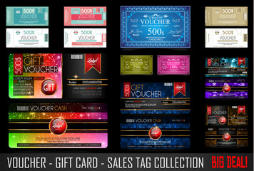 Big Collection of Voucher Gift Card layout templates
