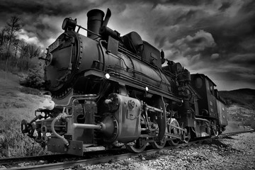 Steam locomotive narrow gauge railway in Mokra Gora called Sargan eight