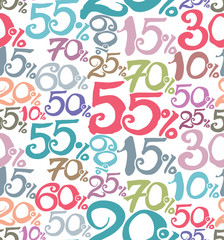 Handwritten Sale numbers. Thematic background.