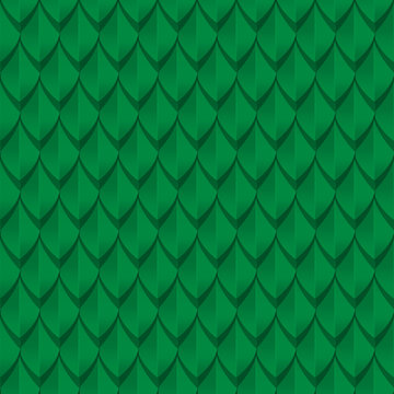 Green dragon scales seamless background texture