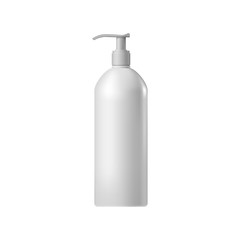 White blank cosmetic bottle with batcher