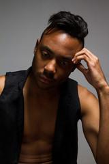African american latino man portrait