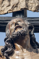 Rostro del cachorro de Triana, semana santa de Sevilla