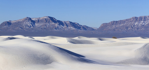 Sand Dunes and San Andres Mountains, White Sands National Monument, New Mexico