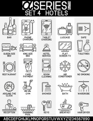 Set of icons hotels