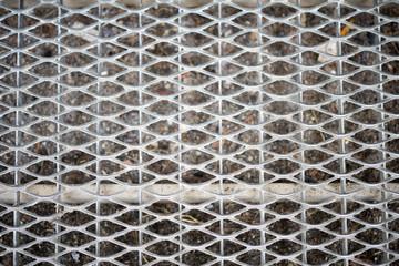 doormat grid / Silver doormat grid