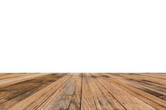 The platform of wooden planks