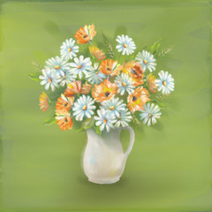 Flowers Bouquet in Vase