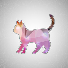 Creative concept vector cat icon isolated on background