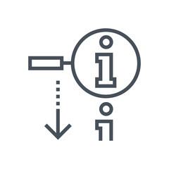 Search, info icon