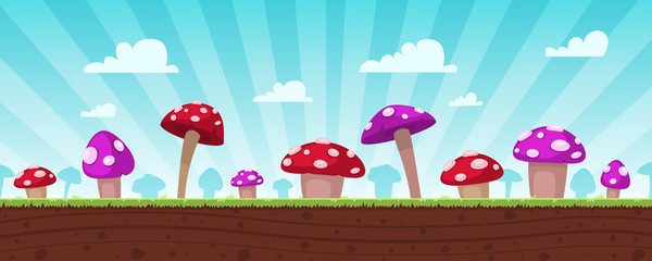 Mushrooms Game Background