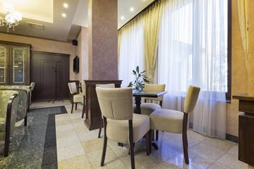 Hotel lobby cafe