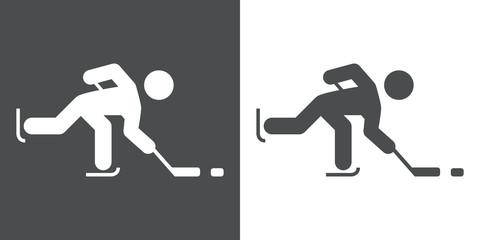 Icono plano hockey hielo #3