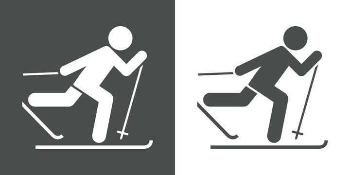 Icono plano esqui de fondo #1