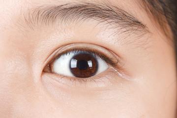 Closed up image of human eye