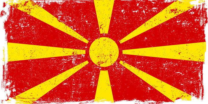 Macedonia Vector Flag on White