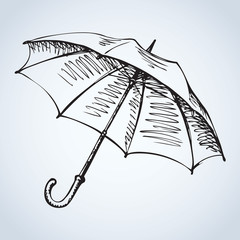 Umbrella. Vector drawing