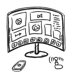 doodle smart TV,  illustration icon