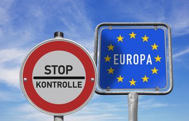 Stop, Grenzkontrollen in Europa