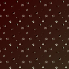 Christmas snowflakes background. Falling snowflakes on snow. Vector illustration