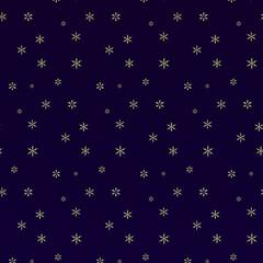 Christmas snowflakes background. Falling snowflakes on snow. Vector illustration