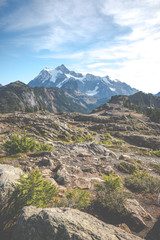 some scenic view of mt Shuksan in Artist point area on the day.